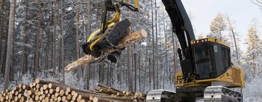 AFM harvesting heads on tracked forest machines